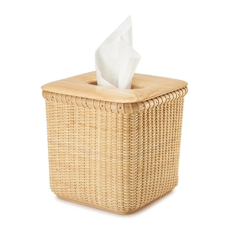Tengtian Brand, Nantucket Basket, Extraction Paper Basket, Tissue Box, Toilet Paper Storage Containers,paper Towel Holders, Woven Rattan, Chinese Traditional Handicrafts, Casual Style, Natural Environmental Protection (Oak)