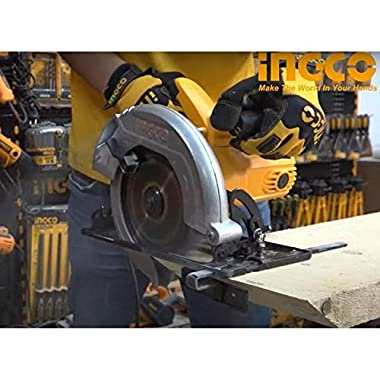 INGCO POWERTOOLS & HANDTOOLS 1200W Circular saw Blade diameter: 185x20mm With 1pcs 185mm blade With 1 set extra carbon brushes 7