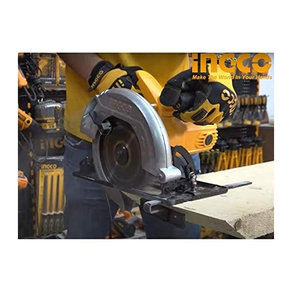 INGCO POWERTOOLS & HANDTOOLS 1200W Circular saw Blade diameter: 185x20mm With 1pcs 185mm blade With 1 set extra carbon brushes 3