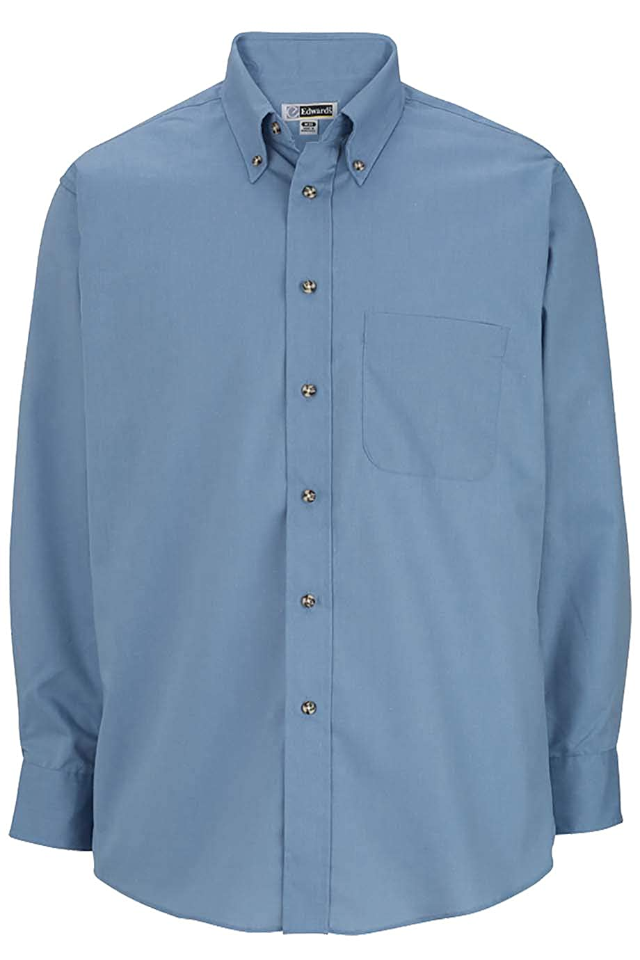 Edwards Garment Mens Performance Fashion Poplin Long Sleeve Shirt
