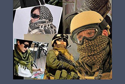 100% Coton Militaire Shemagh Tactique Desert Keffieh Écharpe Tête Cou Wrap  Protection de Cou pour Homme et Femme Noir  Amazon.fr  Informatique 9720418e2bd
