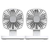 Fansport Electric Car Fan USB Rechargeable Fan Dual Heads Auto Cooling Fan Car Air Fan