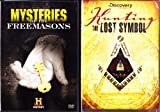 The History Channel : Mysteries of the Freemasons with Secret Societies Documentary , Hunting the Lost Symbol with Secret America Series : 2 Pack Collection