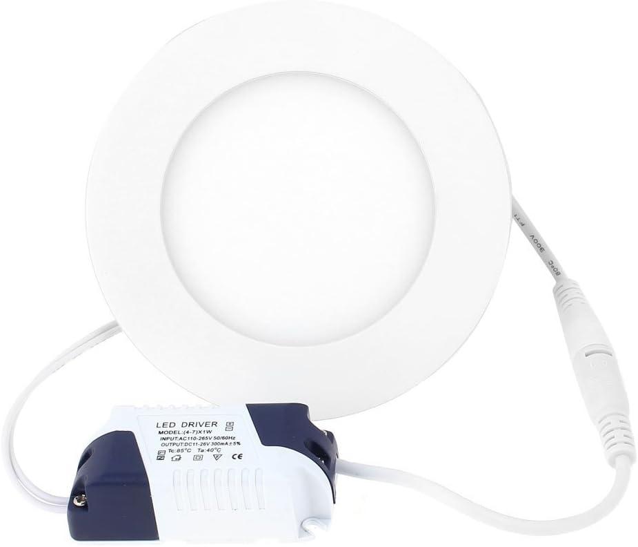 AC85-265V 6W 30 SMD LED rotonda luce di pannello da incasso a soffitto bianco caldo