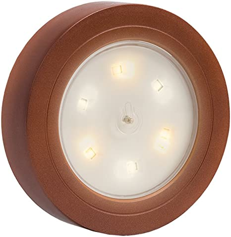 Stick N Click LED Battery Operated Bulbs 3 Pack Bronze