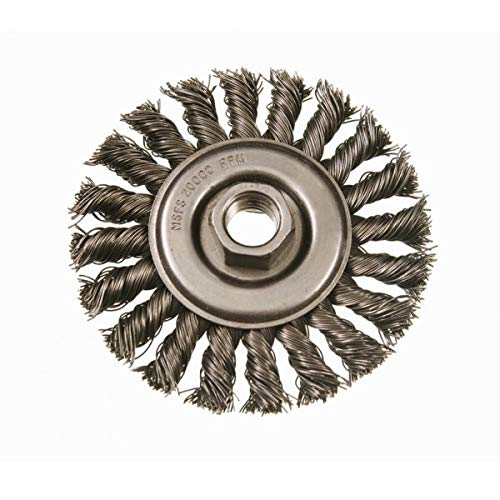 9000 RPM Standard Twist Knot Wire Wheel Steel Fill Felton Brushes K606 28 Knots 1//2 Brush Face Pack of 5 - 6 Diameter 5//8-11 Arbor 1-1//4 Trim.023.020