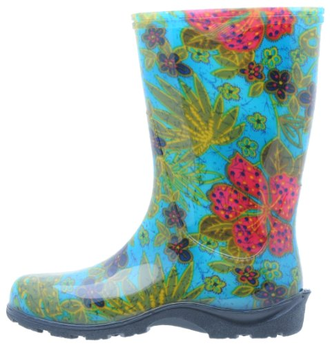 5002BL10 Midsummer with Women's Rain 10 Boot Comfort Garden Size Sloggers Style and Waterproof Blue Insole HwC6BqF