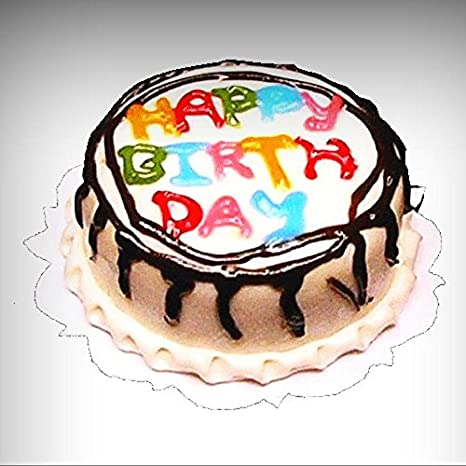 Amazon Com Dollhouse Miniature Hand Crafted Happy Birthday Cake 1