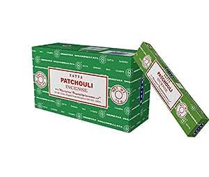 MontCherry - Juego de 12 pines para el pelo y varillas de incienso Satya de la marca exclusiva (Patchouli)