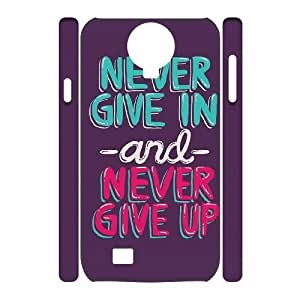 Custom New Case for SamSung Galaxy S4 I9500 3D, Never Give Up Phone Case - HL-526119