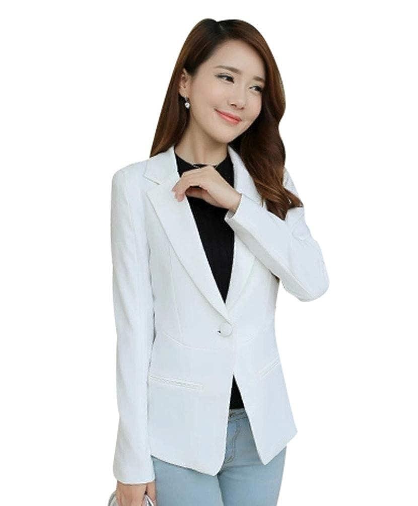 586c6cda1475 Kaiyei Mujer Otoño Primavera Blazers y Chaquetas Trabajo Oficina Dama Traje  Slim Office Blazer Mujer Escudo