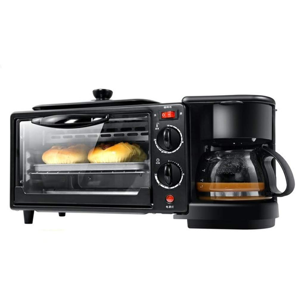 ANGELA 3-in-1 Multifunction Breakfast Hub with Coffeemaker, Griddle, Toaster Oven, Perfect Food Combination Maker, Nutritional Meal, for Home Kitchen