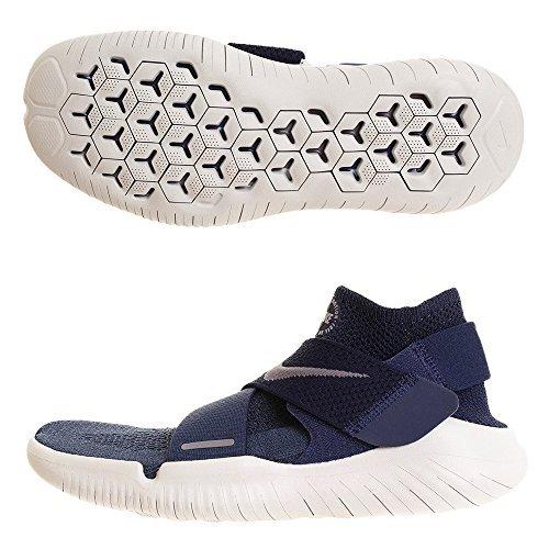 Nike Free Rn Motion Flyknit 2018 Sz 10 Mens Running Squadron Blue/Gunsmoke-Midnight Navy Shoes
