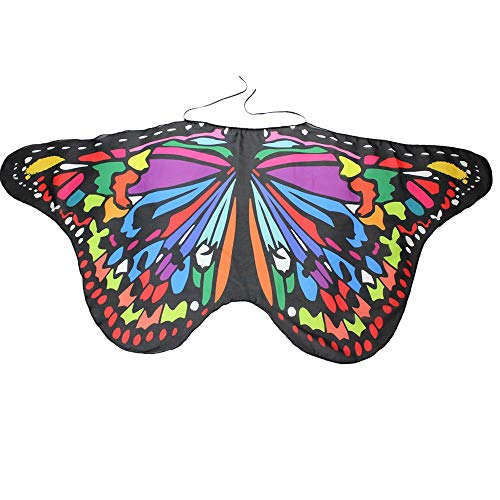 GOVOW Halloween Costumes for Teen Girls Bohemian Butterfly Print Shawl Pashmina Accessory