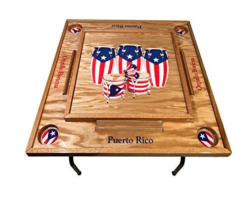 Puerto Rico Congas Domino Table
