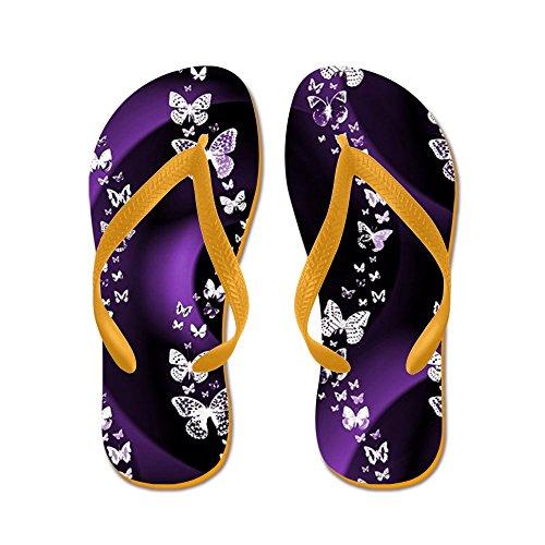 CafePress Purple Butterfly Swirl - Flip Flops, Funny Thong Sandals, Beach Sandals Orange