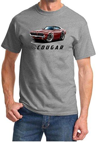 1970 Mercury Cougar Hardtop Full Color Design Tshirt 2XL Grey ()