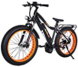 Addmotor MOTAN Electric Bikes Bafang 48V1000W Middle Hub Brushless Motor Snow Beach Fat Ebikes 26Inch Electric Bicycles 17.5AH Lithium Battery Electric Fat Bikes M-5800 E-Bike