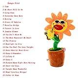 Ensunpal 1 Pc Funny Soft Plush Toy, Creative Singing and Dancing Saxophone Sunflower Plush Toy,3