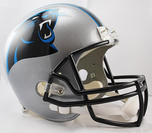 Replica Panthers Riddell Carolina Helmet (Carolina Panthers Riddell Full Size Deluxe Replica Football Helmet - New in Box)
