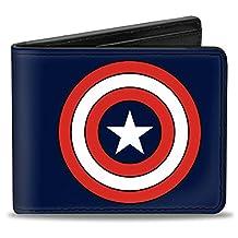 Buckle-Down Marvel Comics Wallet Captain America Shield Full Color Nav Accessory
