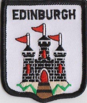 Citt/à di Edimburgo Scozia Bandiera ricamato Patch Badge