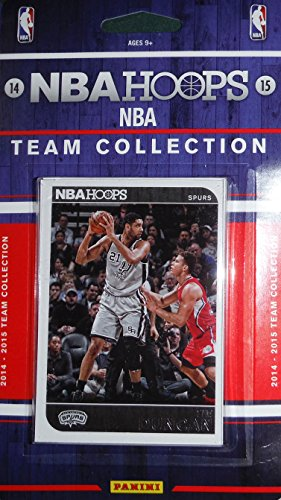 San Antonio Spurs Brand New 2014 2015 Hoops Basketball Factory Sealed 10 Card NBA Licensed Team Set with Tim Duncan Kawhi Leonard Plus