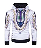 Abetteric Men Africa Casual Pullover All-Match Vogue Floral Printed Sweatshirt Purple M