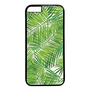 """Palm Tree Leaves Theme Case for iPhone 6 Plus (5.5"""") PC Material Black"""