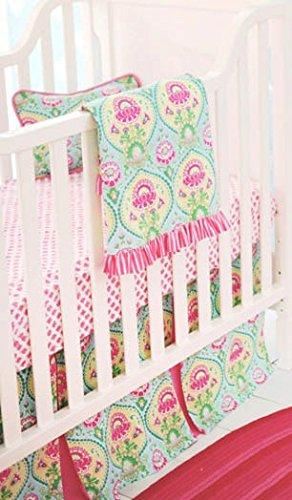 New Arrivals Layla Rose - Juego de cuna (4 piezas), color rosa ...