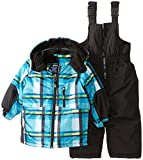 Rugged Bear Babys All Over Plaid Snowsuit, Blue, 24 Months