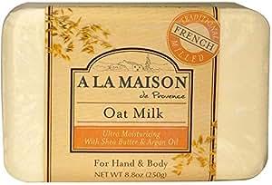 A La Maison de Provence, Hand & Body Bar Soap, Oat Milk, 8.8 oz (250 g)