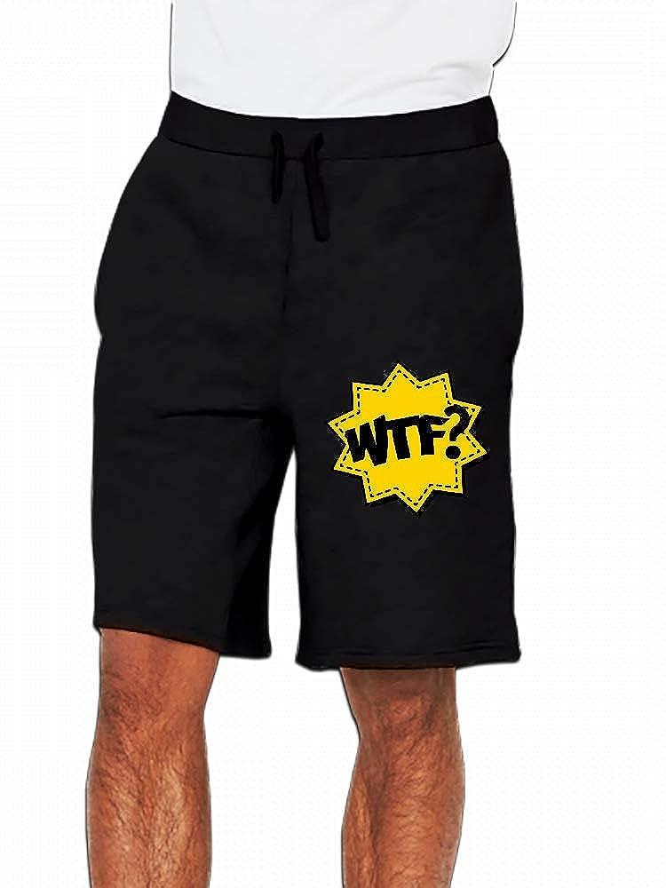 JiJingHeWang WTF Mens Casual Shorts Pants