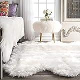 """nuLOOM Fluffy Faux Sheepskin Shag Area Rug, 5' 3"""" x"""