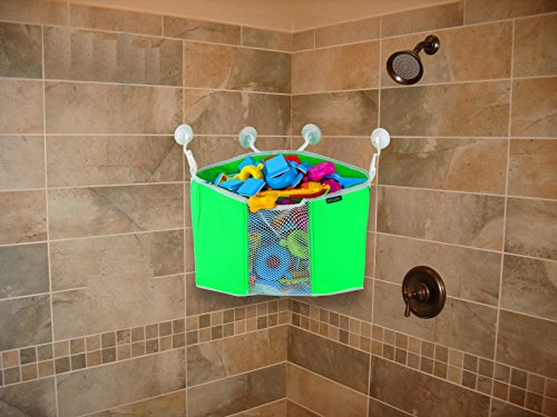 Corner Toy Shower Caddy By Lebogner - Baby Bath Toy Organizer With 4 ...