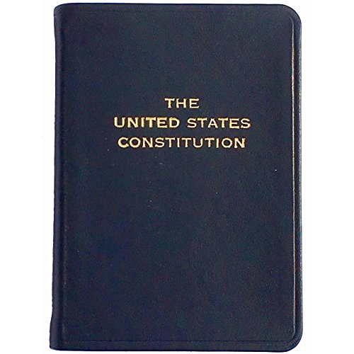Palm Size Constitution in Dark NAVY-BLUE Leather by Graphic Image™ - 2.75x3.75 by Graphic Image