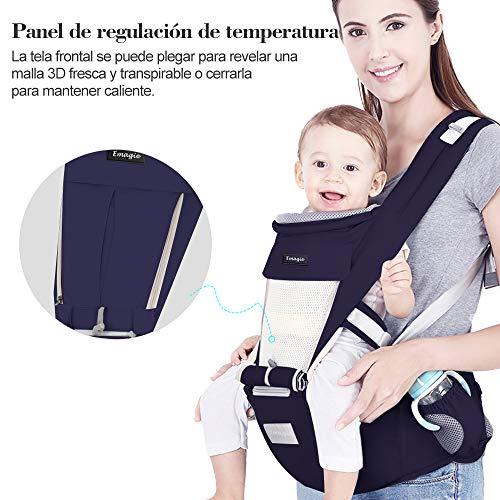 EMAGIE Portabebé Asiento de Cadera – Mochilas PortaBebé Ergonómico Portador...