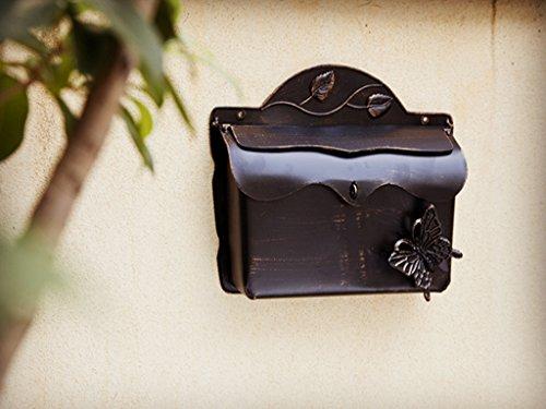 Dipamkar® Briefkasten Wandbriefkasten Metall Antik Stil Landhausstil Shabby