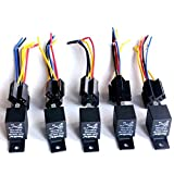 40 amp bosch relay - JahyShow Car Truck Relay Socket Harness kit 4 Pin 4 Pre-wired 12V 40 Amp for Bosch Style, Waterproof Automotive Auto Switches & Starters Set, Pack of 5