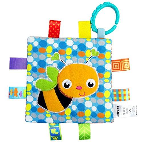 Camilla Fabric Set (Handmade Teething Cloths (1-Pack) by LASLU — Baby Teething Toys / Teething Blanket — Infant & Baby Toys (Little bee))