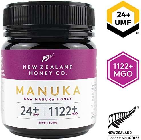 New Zealand Honey Co. Raw Manuka Honey UMF 24+ / MGO 1122+   8.8oz / 250g