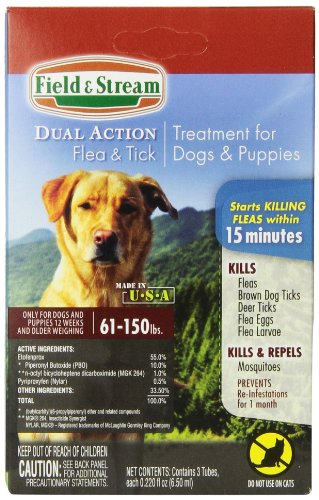 field stream dual action flea and tick treatment for x large dogs puppies 61 150lbs price. Black Bedroom Furniture Sets. Home Design Ideas