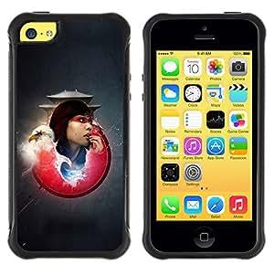 """Hypernova Defender Series TPU protection Cas Case Coque pour Apple iPhone 5C [Águila calva Samurai Girl""""]"""