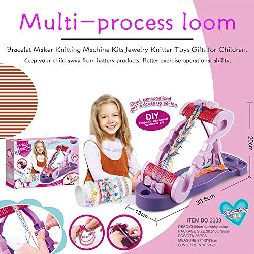 cheerfullus Loom Friendship Bracelet Maker Kit,Weaving and Machine Knitting Set for Jewelry Knitter Toys Gifts for Children