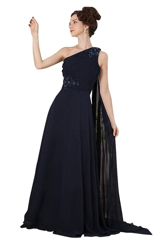 GEORGE BRIDE Formal One Shoulder Long Formal Evening Dress
