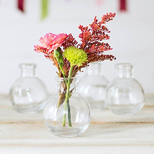 - Couronne Company C6545-N Glass Bud Vase, Ball Bottle, 2.75 in. Round x 3.25 in, Clear, 12 Pack