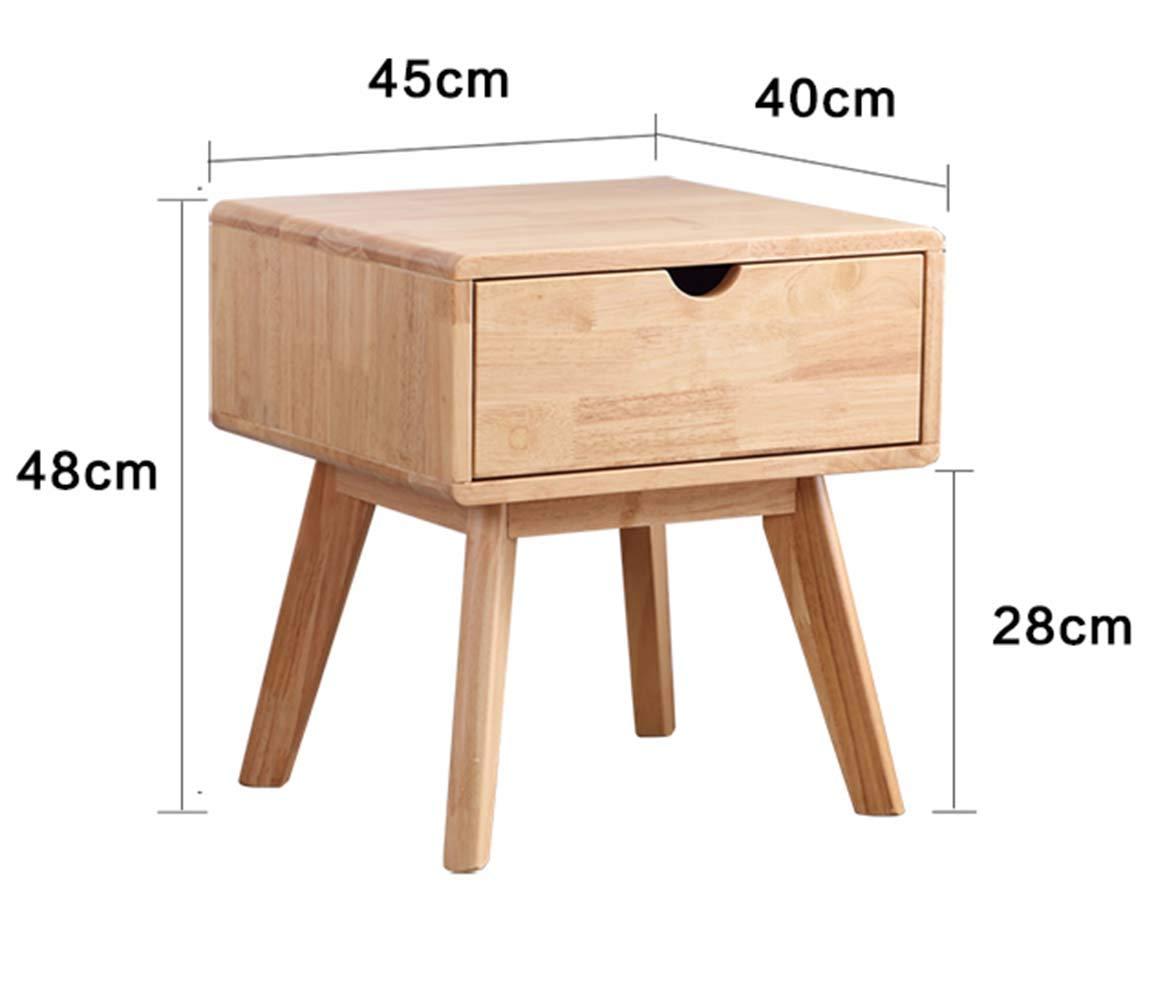 Amazon.com: GHH - Mesita de noche de madera maciza para ...