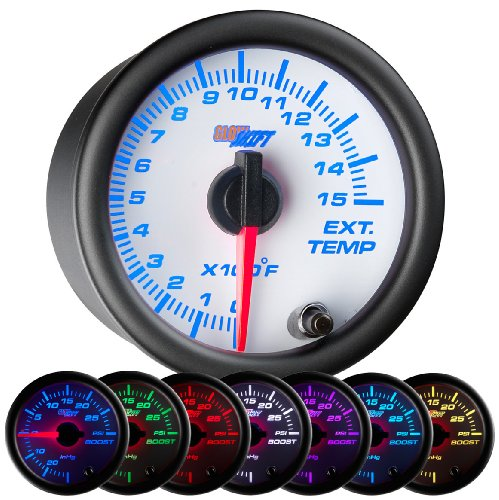 GlowShift White 7 Color 1500 F Pyrometer EGT (Series Pyrometer Kit)