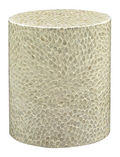 Decor Set Capiz Shell - Jofran 1730-28NAT Global Archives Round Accent Table, 16