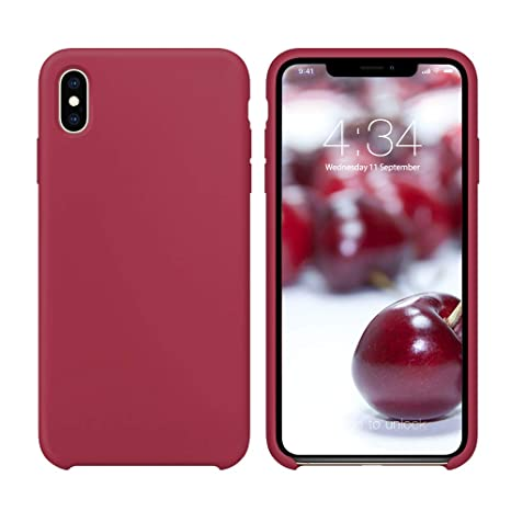 coque iphone xs fine rouge